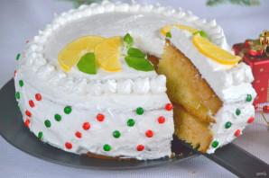 Лимонный торт с белковым кремом - фото шаг 23