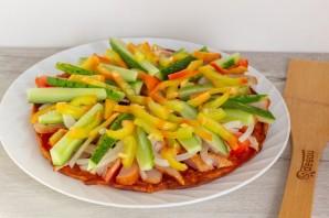 Курица с овощами на гречневой галете - фото шаг 8