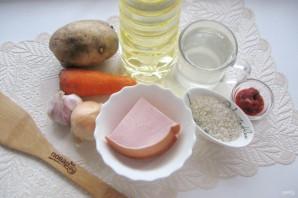 Рисовый суп с колбасой - фото шаг 1