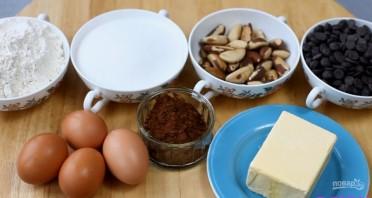 Брауни с бразильскими орехами - фото шаг 1