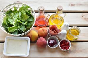 Салат с персиками - фото шаг 1