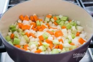 Зимний суп с курицей - фото шаг 1