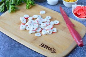 Салат с имбирем и крабовыми палочками - фото шаг 3