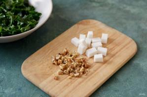 Теплый салат с тыквой - фото шаг 4
