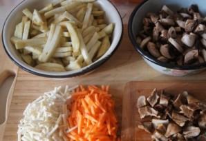 Суп с баклажанами и грибами   - фото шаг 3
