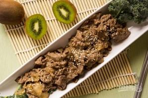 Говядина в маринаде с киви - фото шаг 4