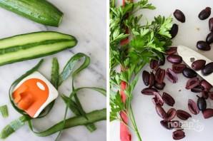 Греческий салат с авокадо - фото шаг 1