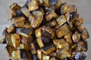 Салат из запеченных баклажанов с грецкими орехами - фото шаг 3