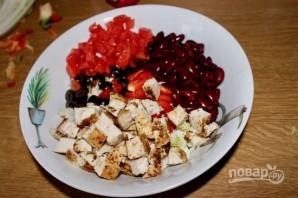 Салат с фасолью красной - фото шаг 7