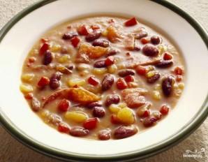 Фасолевый суп из консервированной фасоли - фото шаг 9