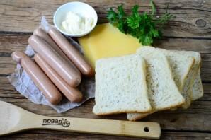 Сосиски в хлебе для тостов - фото шаг 1