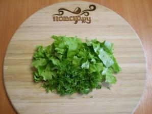 Салат из свежих грибов шампиньонов - фото шаг 4