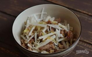 Легкий мясной салат - фото шаг 4