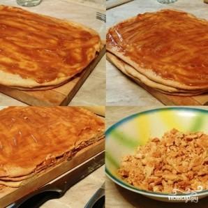 Пирожное с варёной сгущёнкой - фото шаг 8