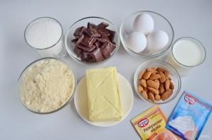 Шоколадные пирожные со вкусом миндаля - фото шаг 1