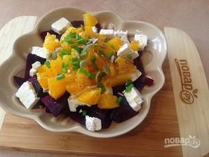 Салат со свеклой, брынзой и апельсином - фото шаг 6