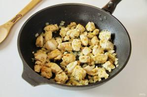 Макароны с капустой и курицей - фото шаг 4