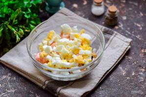 Салат с креветками, мидиями и кальмарами - фото шаг 4