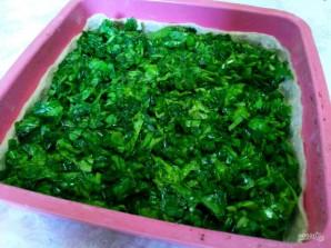Пирог из постного теста с летней зеленью  - фото шаг 8