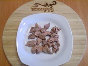 Теплый салат с куриной печенью - фото шаг 4
