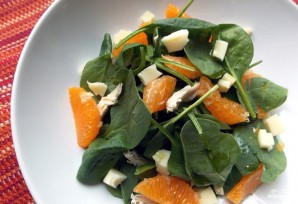 Салат из шпината и мандаринов - фото шаг 3