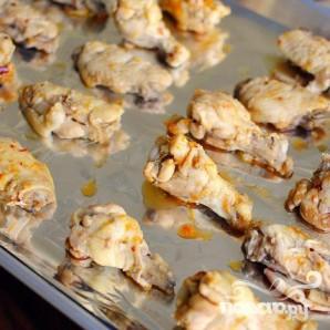 Крылышки с цедрой и соусом из кинзы - фото шаг 3