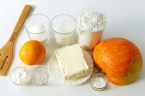 Насыпной пирог с тыквой и апельсином - фото шаг 1