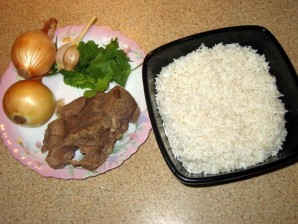Каша рисовая с говядиной - фото шаг 1