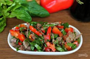 Салат с мясом и соевым соусом - фото шаг 8