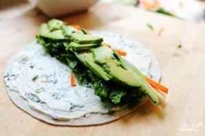 Овощные роллы из лепешек тортильяс - фото шаг 4
