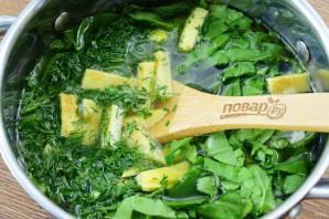 Суп со шпинатом и яйцами - фото шаг 6