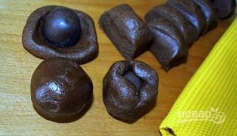 Печенье с карамелью в шоколаде - фото шаг 6