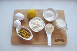 Лимонный кекс с изюмом - фото шаг 1