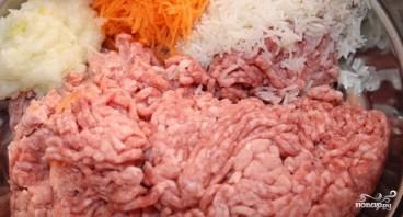 Ежики из индейки с рисом - фото шаг 1