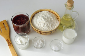 Пирог из стакана варенья - фото шаг 1