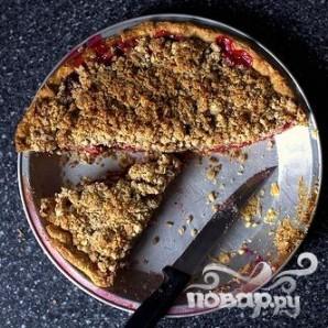 Вишневый пирог с миндальной корочкой - фото шаг 3