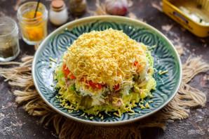 Салат из печени трески слоеный - фото шаг 10