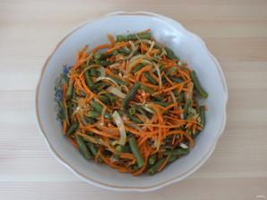 Корейский салат с зеленой фасолью - фото шаг 7