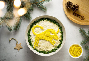 Вегетарианский салат на Новый год Быка - фото шаг 12