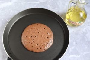 Полезные шоколадные панкейки - фото шаг 7