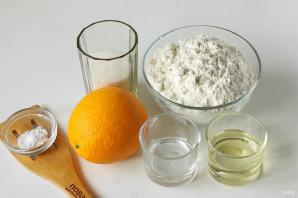 Постное апельсиновое печенье - фото шаг 1
