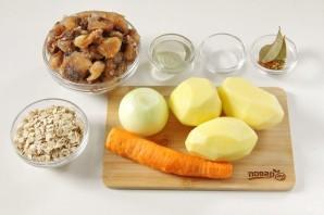 Овсяный суп с грибами - фото шаг 1