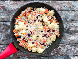 Рис с тыквой и яблоками - фото шаг 7