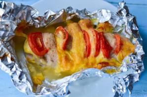 Куриная грудка фаршированная сыром и помидорами - фото шаг 7