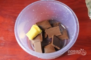 Шоколадный пирог без яиц в микроволновке - фото шаг 11