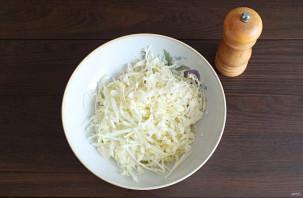 Салат с мясом и маринованными грибами - фото шаг 3