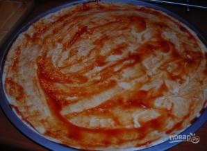 Пицца с сосисками и сыром - фото шаг 1