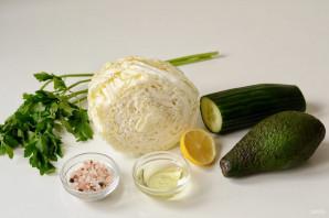 Салат с пекинской капустой и авокадо - фото шаг 1