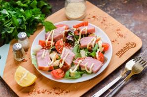 Салат с балыком - фото шаг 6