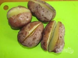 Картофель с брынзой запеченный - фото шаг 2